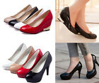 Women Ladies Office Stiletto High Heels Platform Pumps Casual Wedge Shoes US 9