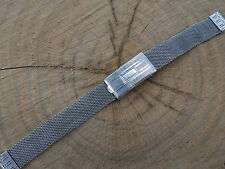 Mesh Watch Band Vintage Ladies Trinity Stainless Steel Deployment Clasp 9mm