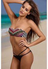 Costume Da Bagno Bikini Stampa Africa Vita Bassa Cutout Swimwear Swimsuit XL