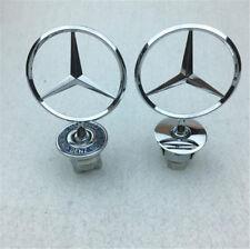 Mercedes-Benz Star Hood Logo Emblem Badge 3D W210 W220 W204 C200 W221 Silver