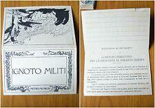 CARTOLINA DOPPIA IGNOTO MILITI 1915 1918 GUERRA SOLDATO PRIMI '900 SUBALPINA W