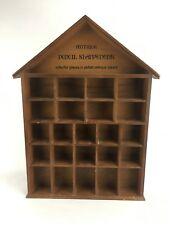 Antique Pencil Sharpeners Copper Plated Collectors Wooden Display Case