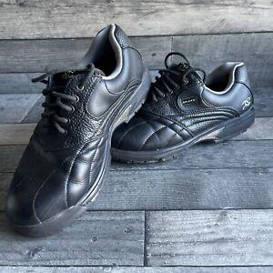 Mens Size 7 Struburt Black Golf Shoes - Needs New Screw In Stud