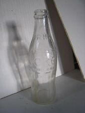 Vintage Clear Coke / Coca Cola 10 oz Bottle; No Deposit / No Return / No Refill