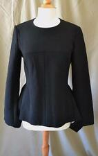Stella McCartney Black Leonore Long Sleeve Top w/Peplum Sz 42/S