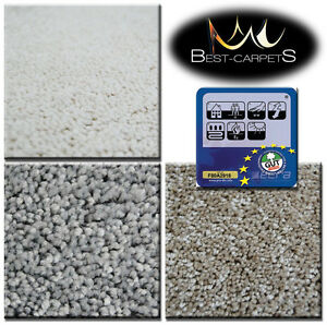 Hardwearing Soft Carpets 3 Colours SERENITY Thick Shag Pile 12mm Roll 4m Rugs