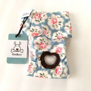 NWT Cute Bone Small Dog Diaper Reusable Washable Floral S