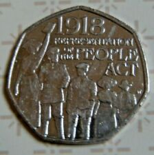 50p COIN 2018 Representation Of The People Act 1918 50p COIN 2018