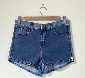 One Teaspoon Size 26 AU 8 - 10 Denim Shorts Romeos High Rise Firm Fit Curved Hem