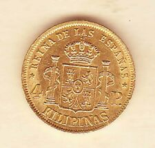 SPANISH Philippines SPAIN ISABEL ll 4 pesos 1868 GOLD coin, very Nice condition