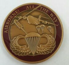 "Vintage: AIRBORNE! ALL THE WAY ""Proud to Serve"" Engravable Challenge Coin"