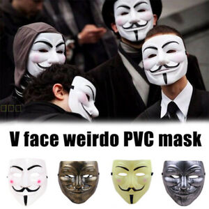 V  Mask Costume Cosplay Party Mask Anonymous Mask Party Decoration-