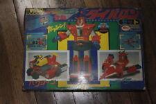 Vintage 70's Japan BULLMARK DX Diabaron Ganbaron Diecast Robot Box Set