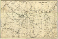 Tennessee; Civil War Antique Map by Bien ca.1865