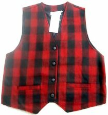 Ladies Large Check Both Front & Back  18 20 Winter Waistcoat Red Black