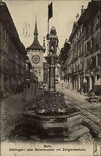 Bern Schweiz AK 1912 Zähringer Bärenbrunnen Zeitglockenturm Turm Brunnen Turmuhr