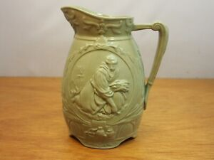 Cork, Edge, Malkin Green 'Ruth' Ceramic Jug - Staffordshire c.1868
