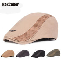 RoxCober Design Cotton Beret Men Women Ivy Flat Cap Vintage Newsboy Caps Visor