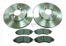 DAEWOO LEGANZA ALL MODELS 1997-2003 NEW 2 FRONT BRAKE DISCS AND PADS SET NEW