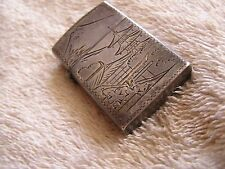 Vintage Sterling Etched Lighter Asian Chinese Japanese