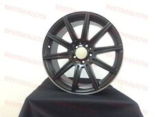 """18"""" MERCEDES BENZ E63 AMG STYLE SATIN BLACK RIMS WHEELS FITS S CLASS STAGGERED"""
