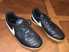 New listing Nike Tiempox Kids Youth Size 5.5 2016 Black Gold Athletic Shoes Sneakers Tennis
