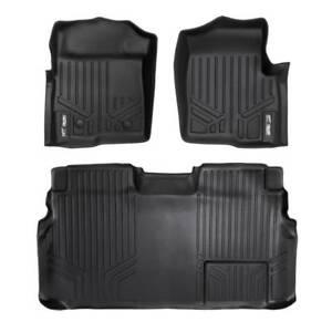Maxliner 2011-2014 Fits Ford F-150 Super Crew Cab Floor Mats 2 Row Set Black