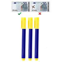 Penna pennarello tester controllo anticontraffatto Rileva banconote false 3pz