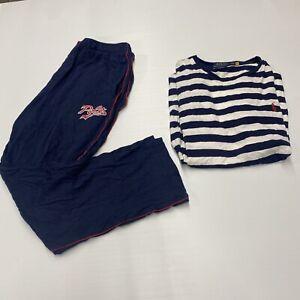 Ralph Lauren Polo Flannel Pajamas Set Mens M Blue