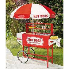 Commercial Hot Dog Cart W Umbrella Carnival Backyard Concessions Stand Grill New