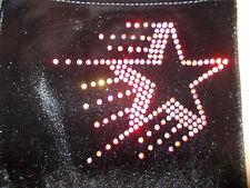 New LILAC LIZARD velour hipster gymnastic / dance shorts (leotard) SHOOTING STAR