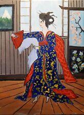 original  painting:dancing geisha