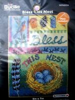 Bucilla Counted Cross Stitch Picture Kit Bless This Nest Bucilla Kit FREE SHIP
