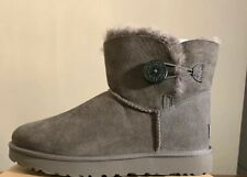 UGG Mini Bailey Button II Woman's Boots 1016422 GREY Size 7, AUTHENTIC NEW