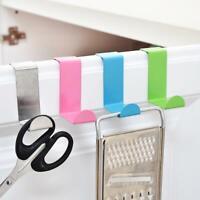 2Pcs/Set Clothes Hanger Door Hook Stainless Steel Kitchen Cabinet Storage Y7B9