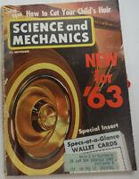Science & Mechanics Magazine New Cars For '63 November 1962 050515R