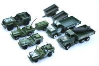ZYLMEX, SIKU, PLAYART MILITARY ARMY VEHICLES Vintage Die-Cast HONG KONG