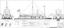 USS CAIRO. Flusskanonenboot 1861 Modellbauplan M 1:50