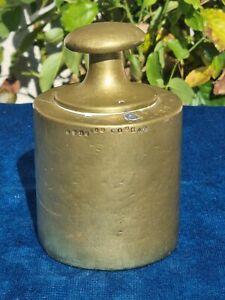 Magnifique poids ancien de 5 kilos en laiton 19éme / Poinçonnées