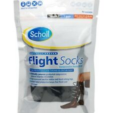 Scholl Flight Socks Black 1 Pair Shoe Sizes 6 1/2 - 9