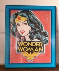 Vintage Wonder Woman framed print 1980-1990s BLT2