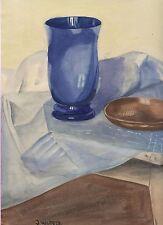 """"""" Blaue Vase """" © Jutta Hildegard Wolters - Original Aquarell"""