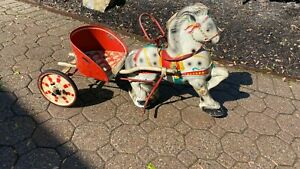 MOBO 1950'S TOY HORSE AND BUGGY