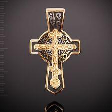 Russische Kreuzanhänger Silber 925 vergoldet 999° Anhänger Иисусова молитва.
