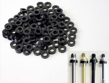 100 NEW Black THICK NYLON DRUM TENSION ROD WASHERS For Tom/Bass/Snare, FREE SHIP