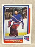 1986-87 Topps John Vanbiesbrouck Rookie Card #9 RC New York Rangers