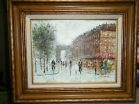 C. Daniel Impressionist Original Painting of Paris Street Scene Beautiful Piece