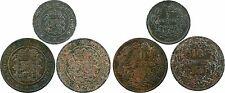 Luxembourg, lot de 3 monnaies : 2 x 10 centimes 1854, 5 centimes 1855 - 85