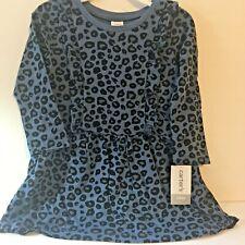 Carters Baby Girl 24M Dress Blue Cheetah Ruffled New