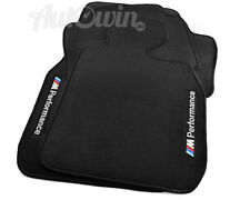 BMW 3 Series E46 Sedan Black Floor Mats M Performance Emblem Clips RHD UK